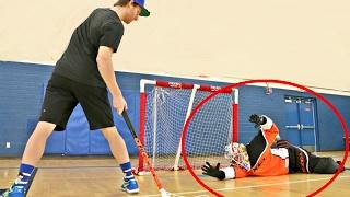 PAVEL BARBER VS. KANE VAN GATE [Floorball+ Shootout Challenge]
