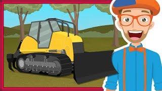 Blippi Bulldozer | Educational Construction Trucks for Children