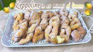 ZEPPOLINE AL LIMONE ISTANTANEE IN 10 MINUTI ricetta veloce INSTANT LEMON ZEPPOLE - Tutti a Tavola