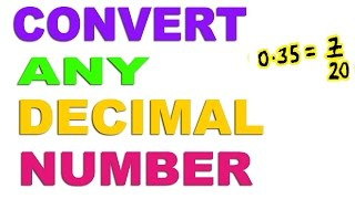 Convert Any Decimal to Fraction - Hindi (2016)