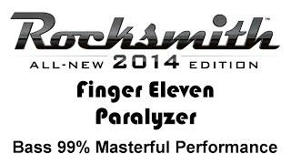 "Finger Eleven ""Paralyzer"" Rocksmith 2014 bass 99% pick"