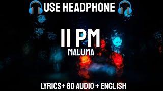 Maluma   11 PM (Letra  Lyrics  English Version 8D AUDIOBass Boosted)