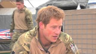 Prince Harry on war