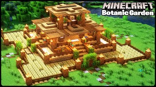 Ultimate Wooden Base With Every Feature What You Need|Minecraft Building Tutorial