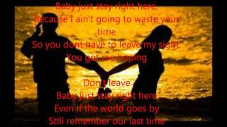 Chris Brown - Last Time Together w/  Lyrics