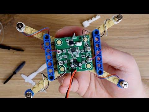 Drohne zum selber bauen! Brick Baustein Drohne DS24 // Zusammenbau & erster Flugversuch (+Crash!)