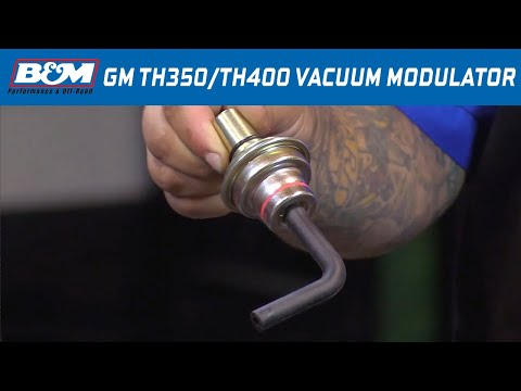 Install: B&M Vacuum Modulator for GM TH350 & TH400 Automatic Transmissions 20234