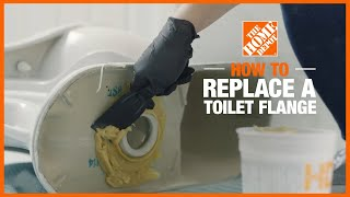 How to Replace a Toilet Flange   Toilet Repair   The Home Depot