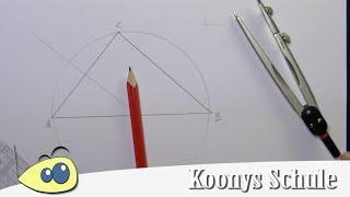 Inkreis konstruieren, zeichnen, Dreiecke, Konstruktionen mit Zirkel ...