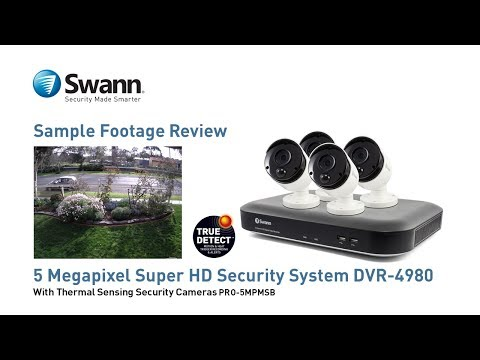 4 Camera 8 Channel 5MP Super HD DVR Security System