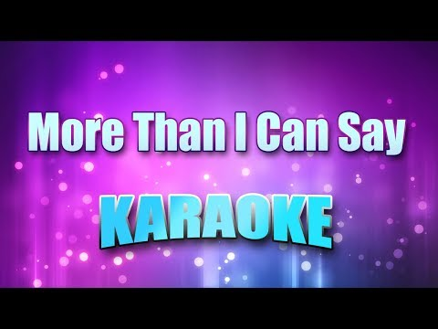 Sayer, Leo - More Than I Can Say (Karaoke version with Lyrics)