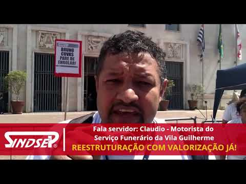 Fala Servidor: Claudio do Serviço Funerário no Ato do NB e NM