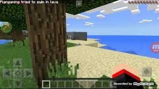 Minecraft pe แกล้งน้อง ep. 1