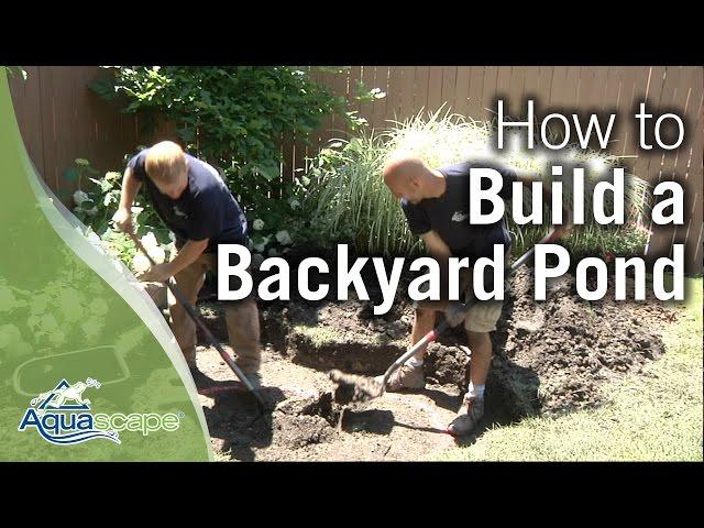 How To Build a Backyard Pond