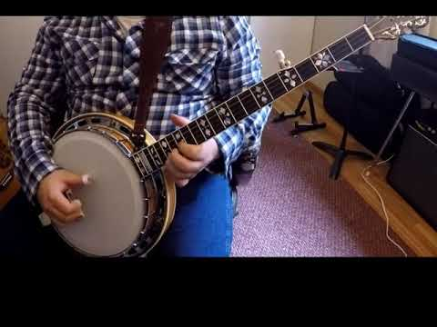 Playing an old Johnson Mountain Boys tune