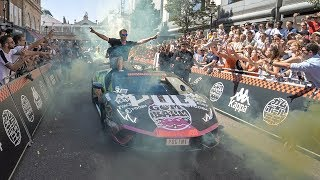 At the start of Gumball 3000 with my 3 sports cars!