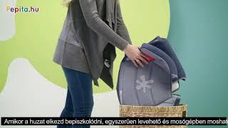 Kinderkraft Junior Fix biztonsági Gyerekülés 15-36kg #fekete