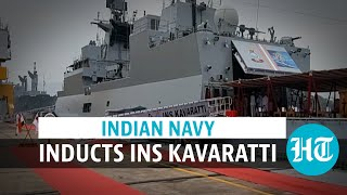 Watch: INS Kavaratti commissioned into Indian Navy by Army Chief in Vizag
