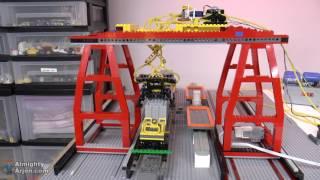 MOC Lego train station WIP E04: Working escalators