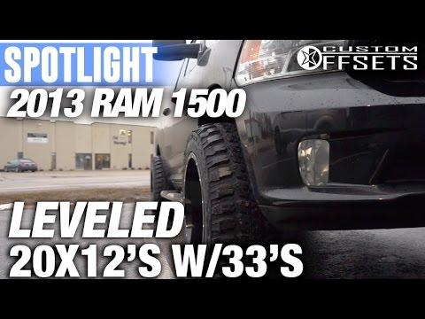 Spotlight - 2013 Ram 1500, TGC Leveling Kit, 20x12's, and 33's