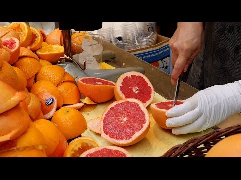 orange grapefruit juice fruit ade / 불티나게 팔리는 자몽쥬스 / korean street food