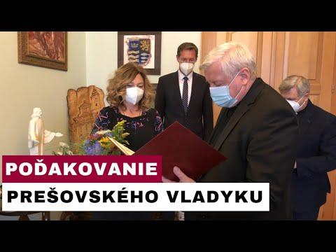 Arcibiskup Ján Babjak odovzdal ďakovné listy primátorke Prešova a predsedovi PSK
