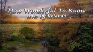 How Wonderful To Know - Andy Williams cover