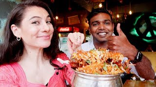 FOREIGNER REACTS to INDIAN FOOD VEG BIRYANI CONTROVERSY | TRAVEL VLOG IV
