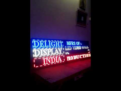 Running LED Sign Board