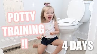 HOW TO POTTY TRAIN A TWO-YEAR-OLD TODDLER in 4 days or less // POTTY TRAINING TIPS // Simply Allie
