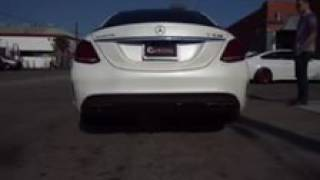 Mercedes W205 C63S AMG with FI Exhaust + Catless Downpipe