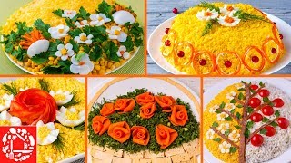 5 самых красивых салатов с цветами! Удивите своих гостей!