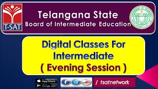 T-SAT || Digital Classes for Intermediate || 18-09-2020 || Board of Intermediate Education - TS