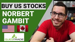 Norbert's Gambit with QUESTRADE Tutorial | Best Way to Buy US Stocks | Avoid ForEx Fees CAD to USD
