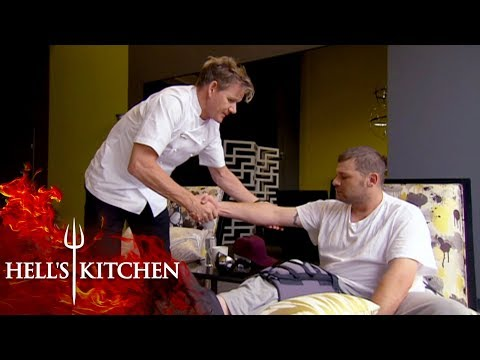 Steve Is Forced To Leave Hell's Kitchen Due To An Injury   Hell's Kitchen