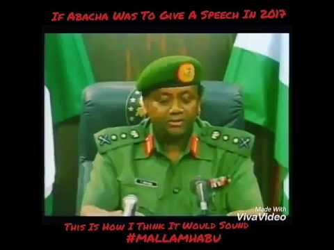 If abacha is to give speech in 2017