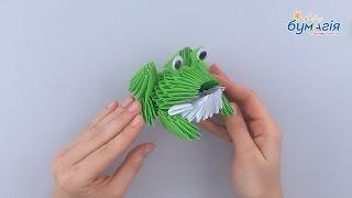 """Набор для творчества ЗD оригами """"Жаба"""" 288 модулей от компании Интернет-магазин """"Радуга"""" - школьные рюкзаки, канцтовары, творчество - видео"""