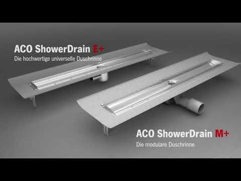 Die neuen ACO Duschrinnen