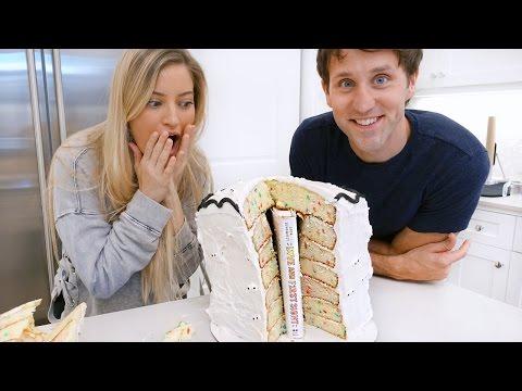 Baking a BOOK in a CAKE with Josh Sundquist!!! 📚🎂 | iJustine
