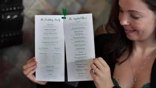 How to Design Wedding Programs : DIY Wedding Invitations