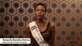 Introduction Video of Keipeile Dintoe Miss South Africa 2017 Contestant from Pretoria, Gauteng