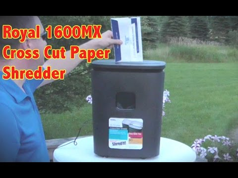 Reviewing the Royal 1600MX Crosscut Paper Shredder