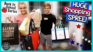BACK TO SCHOOL SHOPPING SPREE AT HUGE MALL! OVER 180 STORES!
