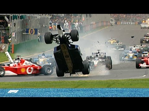Ralf Schumacher Launches Over Rubens Barrichello | 2002 Australian Grand Prix