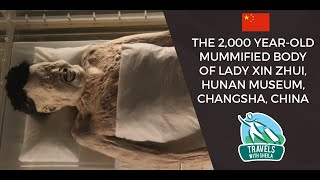 preview picture of video 'The 2,000 Year-Old Mummified Body of Lady Xin Zhui, Hunan Museum, Changsha, China'