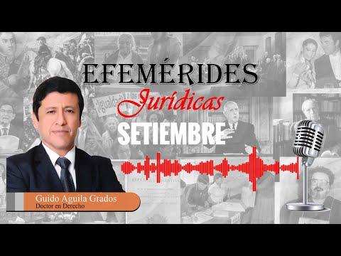EFEMÉRIDES JURÍDICAS: SETIEMBRE - TC177