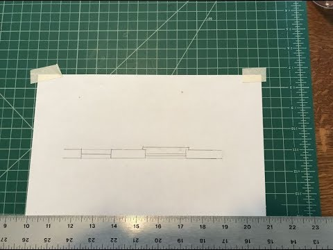 Manual Drafting Draw A Double Hung Window Symbol