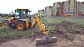 Как срезать 🔪растительный слой на участке  🚜 трактором - jcb39.ru
