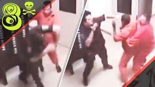 Смотреть онлайн Подборка: Заключенные в тюрьме нападают на полицейских