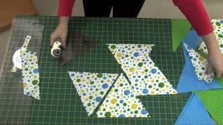 How to cut out triangles for your triangle quilt   NEW Sew Easy Triangle Rulers